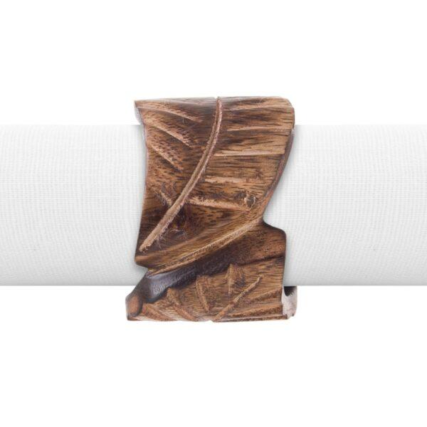 Porta Guardanapo de Madeira Leaf